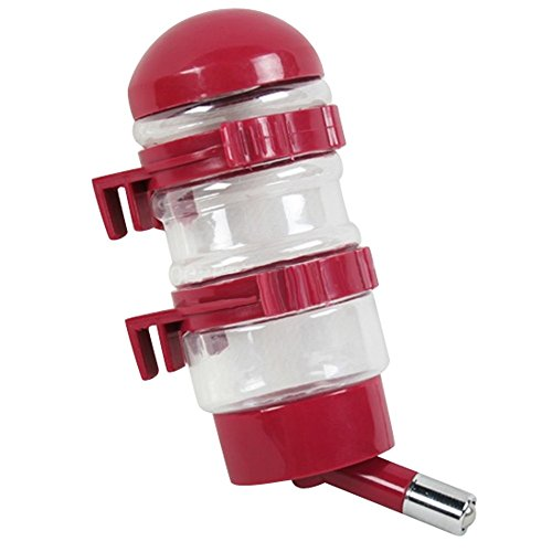 NACOCO Pet Drinking Fountains Dog Water Dispenser Dog Kettle Cat bottle with Automatically Feeding Water (Red)