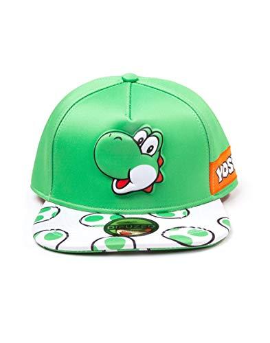 Bioworld Super Mario Snapback Cap Yoshi Nintendo Grün Weiß