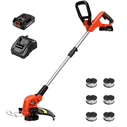 MAXLANDER String Trimmer, 20V 12-Inch Cordless Weed Wacker/Edger, 2.0Ah Battery and One Charger, Length Adujstable, Powerful&Lightweight