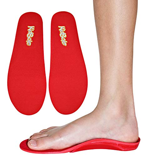 Red Orthotic Sports Insole by KidSole -- Lightweight Soft & Sturdy Orthotic Technology For Active Children With Flat Feet and Other Arch Support Problems (US Kids Sizes 7-8.5 (26 CM))
