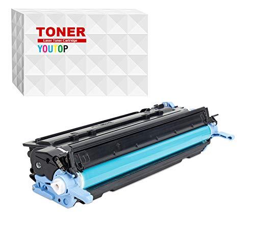 YOUTOP Q6000A - Cartucho de tinta reacondicionado, color negro, compatible con Color Laserjet 1600, 2605, 2600N, 2600NSE, 2605DN, 2605DTN, CM1015mfp, CM1017mfp HP 124A