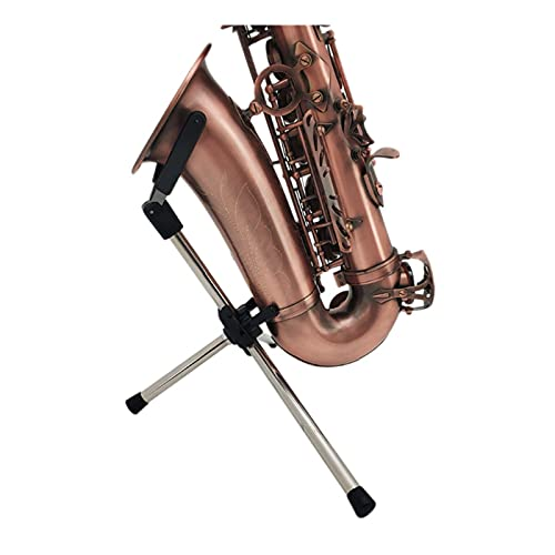 Alto B Flat Tenor Saxophone Stand, Stainless Steel Small Elbow Tweeter Saxophone Rack, Foldable Portable Stand (Bracket Only) (Size : Tweeter small elbow)