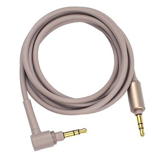 Cavo audio di prolunga, cavo ausiliario di ricambio compatibile con cuffie wireless Sony MDR-XB950BT, MDR-1000X, WH-1000XM2, WH-1000XM3, WH-CH700N, MDR-100ABN, MDR-1A, MDR-1ADAC, MDR-XB950N1 Oro