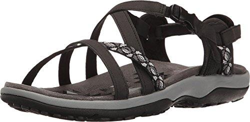 Skechers Cali Women's Regga Slim Keep Close Gladiator Sandal,black,8 M US, Black, 8 M US