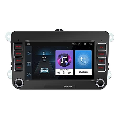 XIXI-Home Adecuado VW Android 10 Coche Radio 7 Pulgadas HD Core cuádica de Pantalla 1GB + 16GB Player Video Multimedia GPS Navegación WiFi Auto estéreo (Digital Media Format : Without Camera)