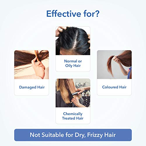 Natural Protein Sulfate Free Shampoo, an Australia-Certified Toxin-Free Shampoo from The Moms Co. to Strengthen Hair, Add Volume, Shine and as a Curly Hair Shampoo (6.8 Fl. Oz.)