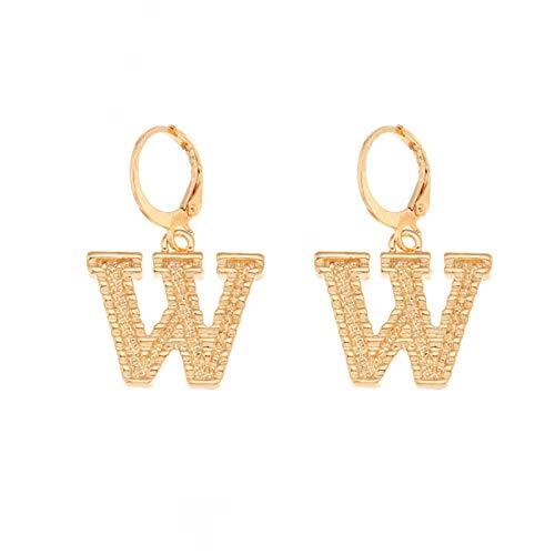 Letter Earrings for Women Gold Letter Earrings Hanging Earrings for Women Dangle Alloy Earrings Piercing Hypoallergenic Fashion Charming