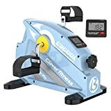 cycool Portable Mini Exercise Bike Under Desk Bike Pedal Exerciser for Legs and Arms with LCD Display (S2)
