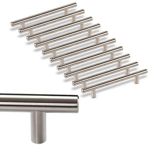 10 x SO-TECH® Möbelgriff G17 echt Edelstahlrohr Ø 12 mm/BA 128 mm Stangengriffe Relinggriffe