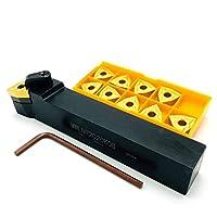 超硬インサート ツールホルダーMWLNR1616H08 MWLNR2020K08 MWLNR2525M08コンポジット95度外部ツールホルダーWNMG0804切削工具に適した (Angle : MWLNR2525M08, Insert Width(mm) : WNMG080404 MA UE6020)