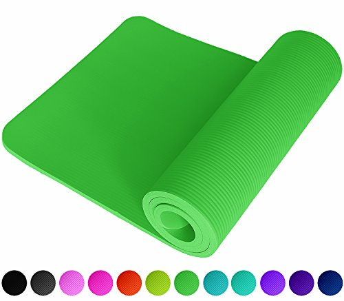 ReFit Fitnessmatte in Grün Green | 1.5 cm | rutschfest | gelenkschonend | EXTRA dick und weich | Maße 183 cm x 61 cm x 1.5 cm | mit praktischem Trageband |