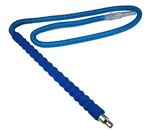 Bayli 1,7m Shisha Schlauch Blau für Hookah | Ersatzschlauch für Wasserpfeife | Schlauch mit gepolstertem Mundstück