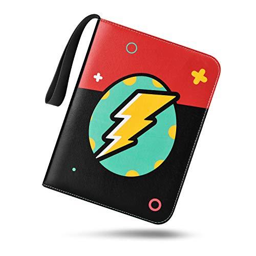 TONESPAC Premium 400 Pocket Sammelalbum , Sammelkartenalben, Buch Tragetasche Ordner mit 400 Kartenkapazität, Kartenhalter für YuGiOh usw (Flash-Ei)