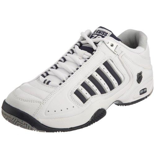 K-Swiss Defier RS - Scarpe da Tennis da Uomo, Bianco (White/Navy/Silver), 40