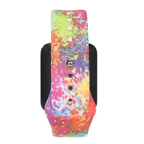 MLQSS - Cinturino in Silicone per Orologio da Uomo e da Donna, 18 mm, 20 mm, 22 mm, con Stampa a Colori, Unisex - Adulto, 20mm-Splash Ink, 20mm Width