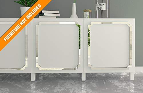 HomeArtDecor - Aveiro Laubsägearbeiten - Geeignet für IKEA Besta - Hochwertiges Overlay - Möbelauflagen - Spiegelmöbel - Möbel Applikationen - Möbel Dekoration - Überholt - Dekor