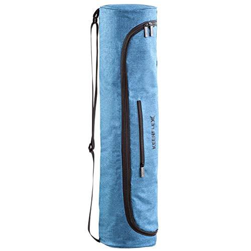 KeenFlex Bolsa de Esterilla de Yoga de Tela Ligera y cómoda y Resistente al Agua...