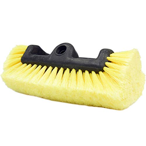 "CARCAREZ 10"" Car Wash Brush with Soft Bristle for Auto RV Truck Boat Camper Exterior Washing Cleaning, Yellow"
