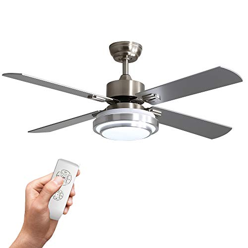 Warmiplanet 52-inch indoor ceiling fan with integrated LED...