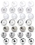 SCERRING 14G Ball for Piercing Replacement Balls Externally Threaded Nipple Industrial Tongue Belly Piercing Rings Body Jewelry Piercing Barbell Parts 5mm 28PCS Silver