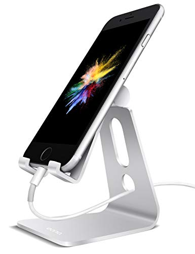 Eono by Amazon - Handy Ständer, Multi-Winkel Handy Halterung : Handyhalterung Halter Ständer für iPhone XS Max, XR, X, 8, 7, 6 Plus, SE, 5, Samsung S10 S9 S8 S7 S6, Huawei, andere Smartphone - Silber