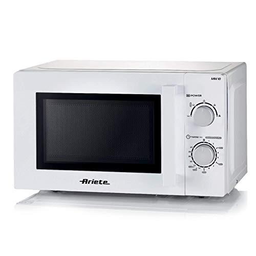 Ariete 951 - Horno de microondas, 20 litros, calentar, cocinar y descongelar, 5 niveles de potencia, plato giratorio de 25,5 cm, temporizador de 35 minutos, blanco