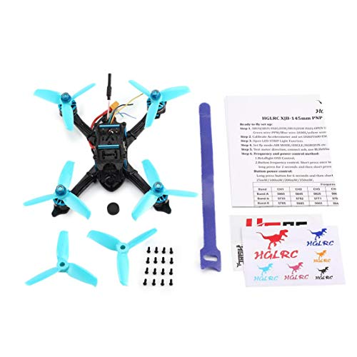 Licini HGLRC XJB 145 145mm Micro Mini Brushless RC Racing Quadcopter Drone Aircraft with 5.8G FPV CCD VTX/F4 FC with OSD PNP