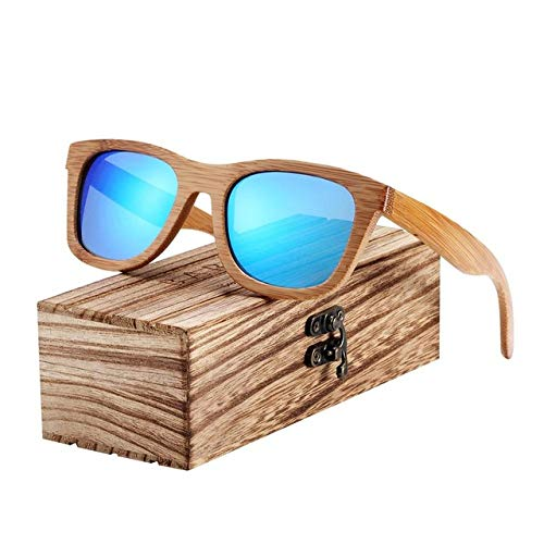 FRRPSG Männer Sonnenbrille Frauen Polarisierte Sonnenbrille Bambus Handgefertigte Holz Sonnenbrille Strand Holzbrille
