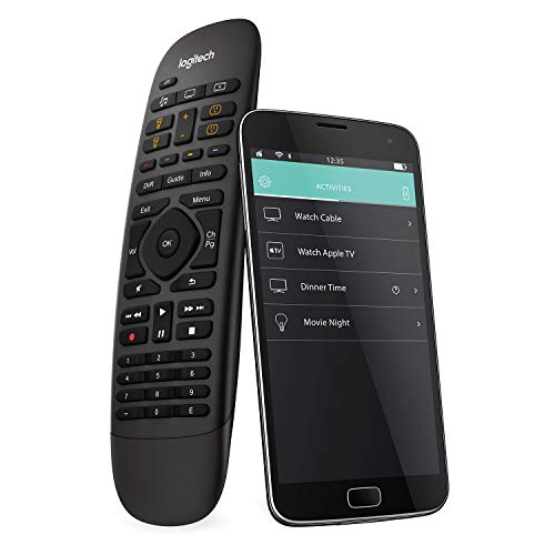 Logitech Harmony Companion Universal Remote Control For SKY, Apple TV, fireTV, Alexa, Roku, Netflix, Sonos and Smart Home, One-Touch Actions, Easy Set-Up App, LG/Samsung/Sony/Hisense/Xbox/PS4 - Black