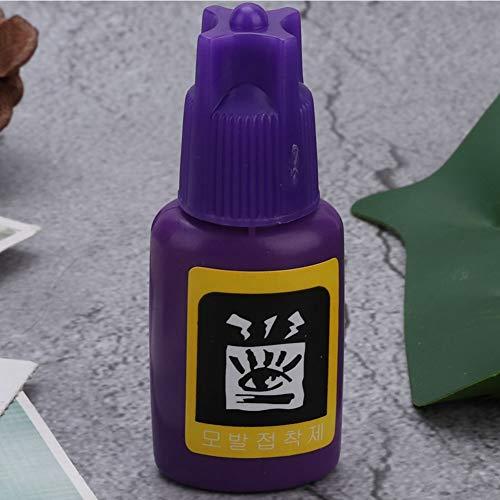 Cadeau Différent Colle d'extension de cils, adhésif naturel léger pour cils à faible odeur, personnel de greffe de cils professionnel pratique pour l'extension de faux cils