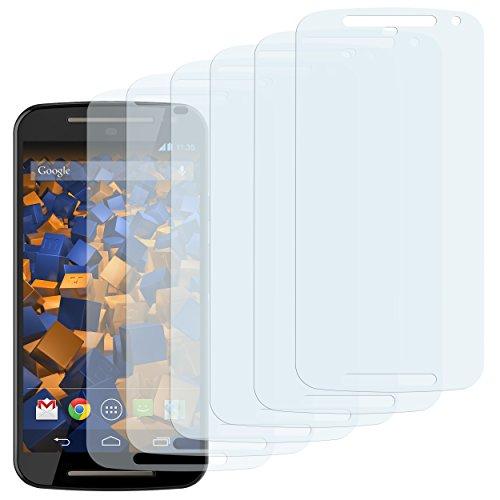 mumbi Schutzfolie kompatibel mit Motorola Moto G 2. Generation Folie klar, Bildschirmschutzfolie (6x)