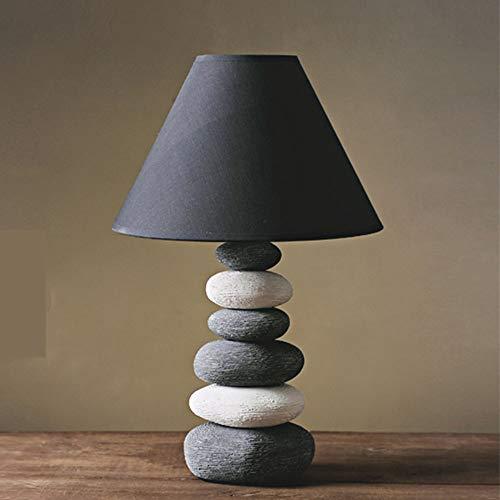 LTAYZ Lámpara Escritorio Lámpara Estilo nórdico Acogedor casero lámpara de Mesa de cerámica Moderna Minimalista LED lámpara Decorativa Enchufe 1 * E14 (27.5 * 42.5cm)