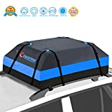 Copsrew 20 Cubic ft Car Roof Bag Top Carrier Cargo Storage Rooftop Luggage Waterproof Soft Box Luggage Outdoor Water Resistant for Car with Racks,Travel Touring,Cars,Vans, Suvs (Blue)