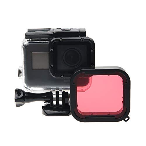 Yissma Objektivfilter Tauchfilter für Gopro Hero 4 Kameragehäuse Unterwasser-Objektivkonverter für GoPro Acessorios