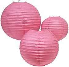 """PrettyurParty Pink Round Paper Lamps 14"""""""