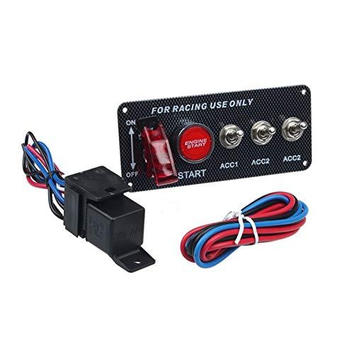 FangFang 15 * 6.6 * 6.3cm 12V Carreras de Carreras LED de alterno del Interruptor de Encendido del Interruptor de Encendido Inicio del Motor Ajuste para la Velocidad de la Potencia 12V (Color : A)