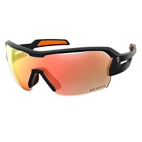 Scott Spur Fahrrad Wechselscheiben Brille schwarz/orange/rot Chrome Amplifier