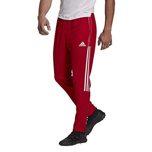 adidas Mens Tiro Track Pants Team Power Red/White Large
