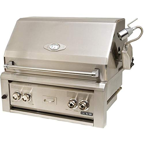 Luxor Gas Grills 30 Inch Built-in Natural Gas Grill With 1 Infrared Burner And Rotisserie Aht-30rcv-bi-ng 1