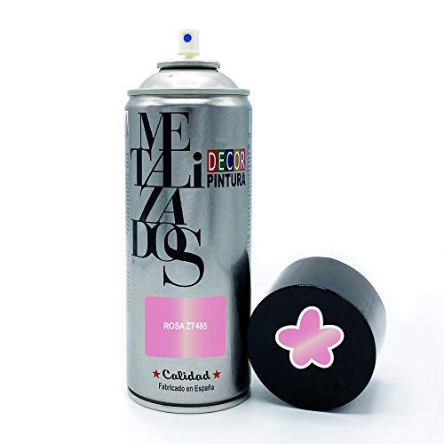 Pintura Spray METALIZADA Rosa 400ml imprimacion para madera, metal, ceramica, plasticos / Pinta Radiadores, bicicleta, coche, plasticos, microondas, graffiti