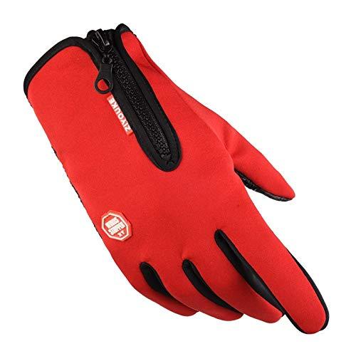WUZHI Touchscreen-Handschuhe, Für IPhone, IPad, Blackberry, Samsung, HTC, SONY, LG Und Andere Smartphones, PDAs Und Sat-Navis,Red-Palmcircumference18~20cm