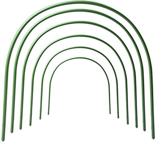 """F.O.T Gewächshaus-Hoops, 6Pcs rostfrei Wachsen Tunnel Stahl mit Kunststoff Beschichtet Unterstützung Hoops Rahmen für Garten Stoff, Pflanze Unterstützung Garten Stakes (34.7"""" x 20.5"""")"""