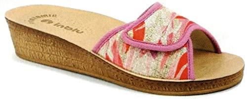 inblu Ciabatte Pantofole Aperte Donna MOD. DI-63 Fuxia Linea Benessere (38 EU)