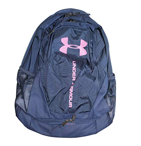 Under Armour UA Storm Hustle 3.0 Backpack Laptop Book Bag 28.9L Soft Navy Blue Pink