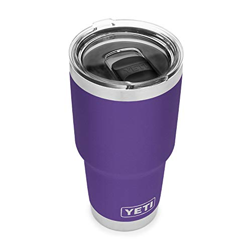 YETI Rambler 30 oz Tumbler, Stainless Steel, Vacuum Insulated with MagSlider Lid, Peak Purple