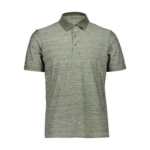 CMP – F.LLI Campagnolo Herren Elastisches Poloshirt mit Dry Function-Technologie, Muschio Mel, 50