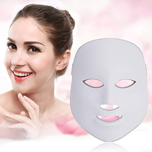 2Types 7 colores fotón LED acné arrugas faciales quitar cuidado de la piel rejuvenecimiento máscara antienvejecimiento(7colores)