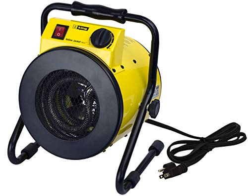 KING PSH1215T Yellow Jacket Portable Shop Heater w/Thermostat, 1500W / 120V