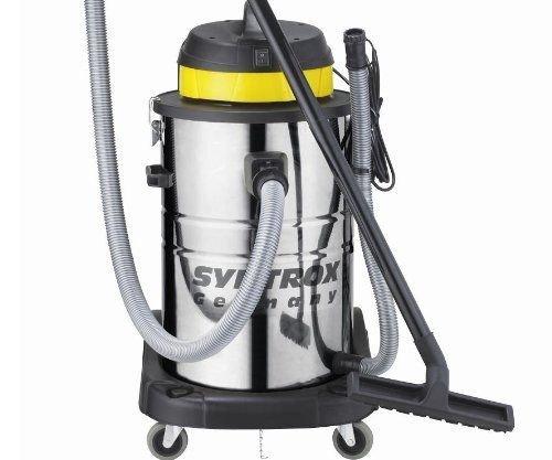 Syntrox Germany 3900 Watt 80 Liter Staubsauger Edelstahl Industriesauger Nass und Trockensauger