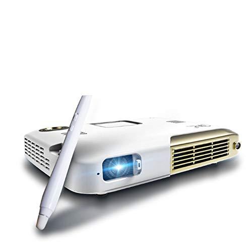 NANDAN Proyector 1280P HD 3D Táctil De Escritura 4K Educación Oficina Interactiva Inteligente Micro-Fi Inalámbrica 4600 S Proyector Móvil De Cine En Casa, Juegos De Entretenimiento Interior/Exterior
